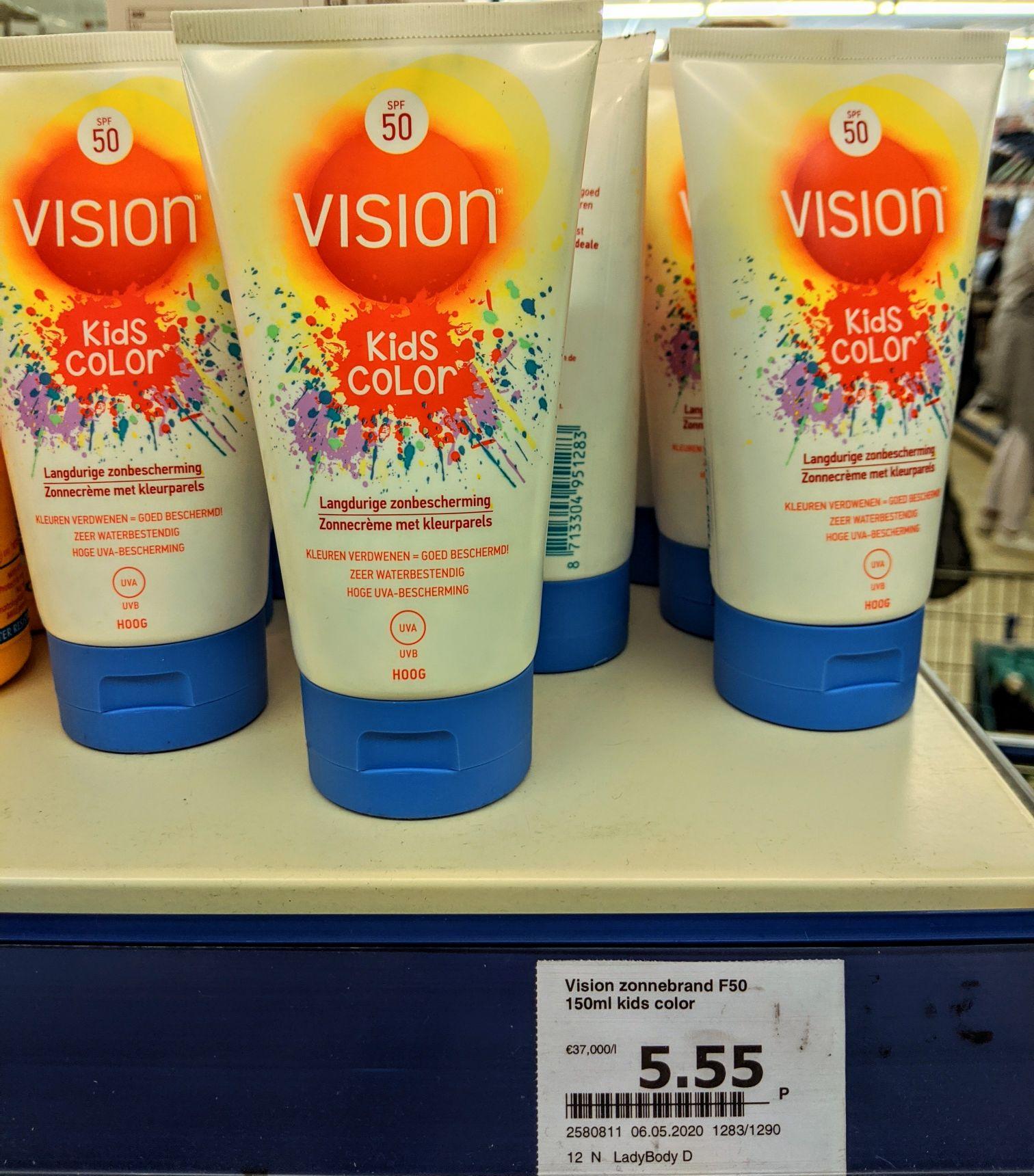 Vision SPF50 Kids Color (nieuw bij Action)