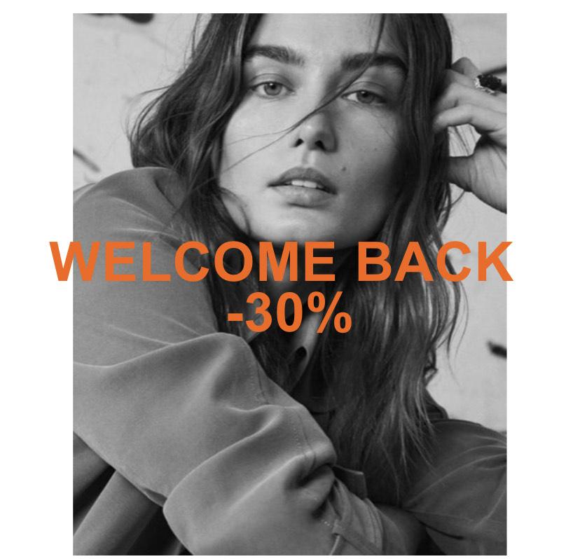 30% Welcome back korting @Mango