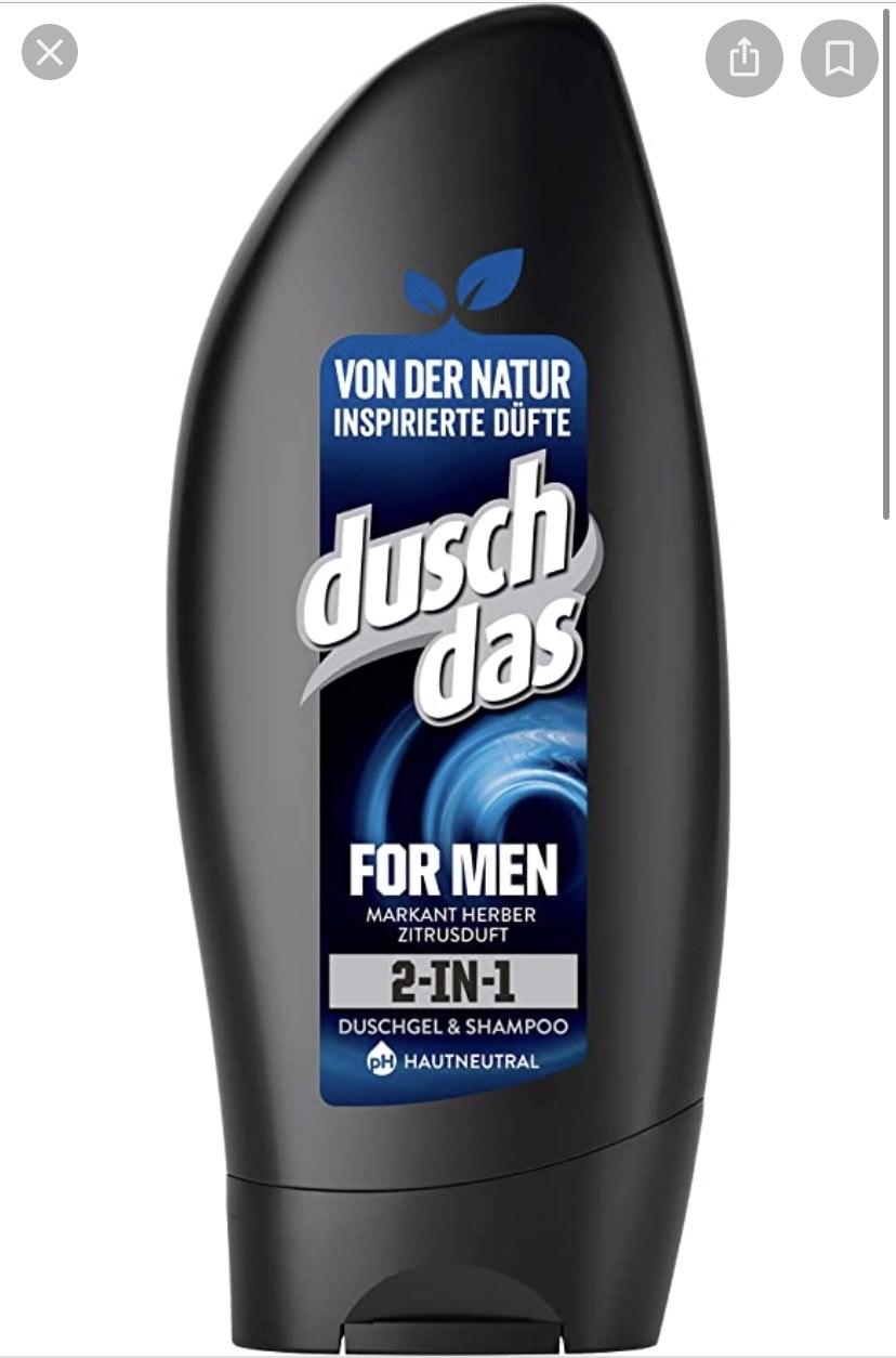 Duschdas 2-In-1 Douchegel & Shampoo, Set van 6, 250 ml