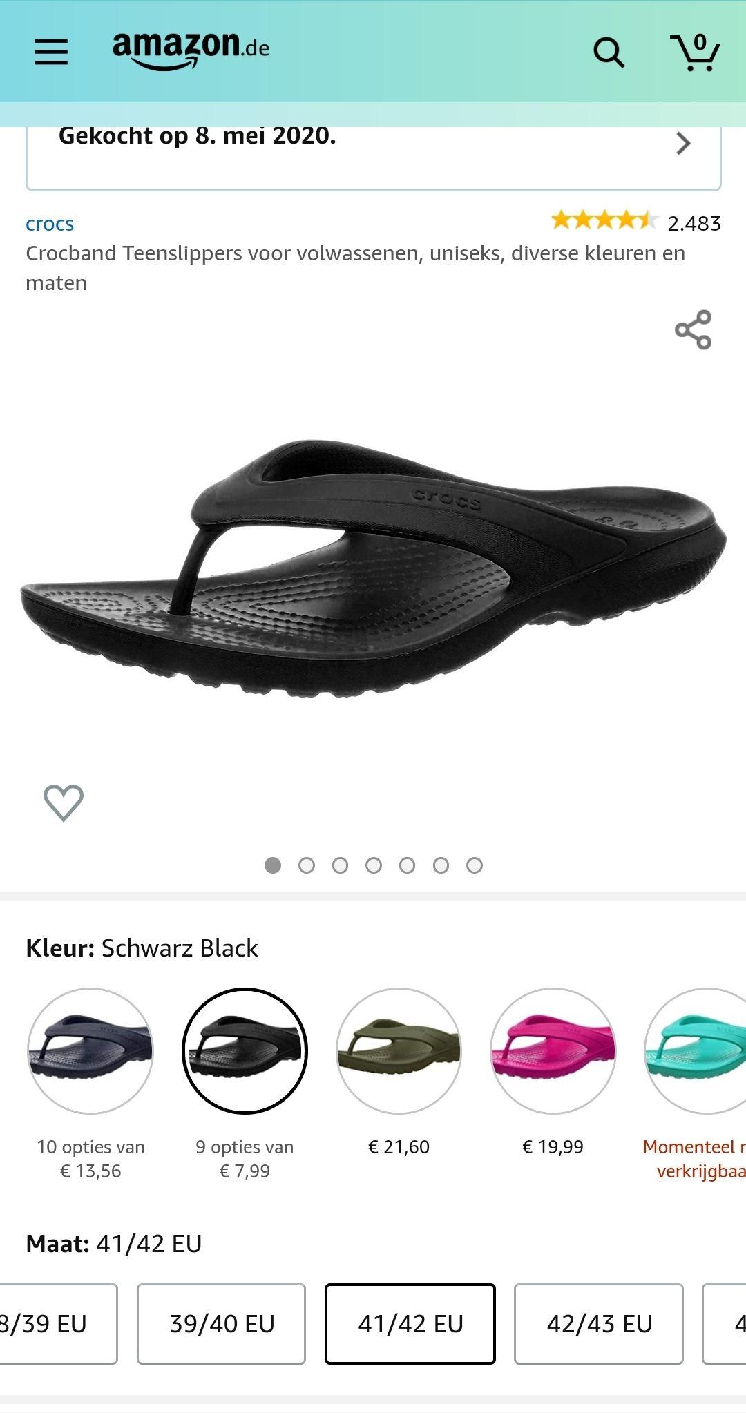 Crocs Crocband Teenslippers €8,12 @ Amazon.de