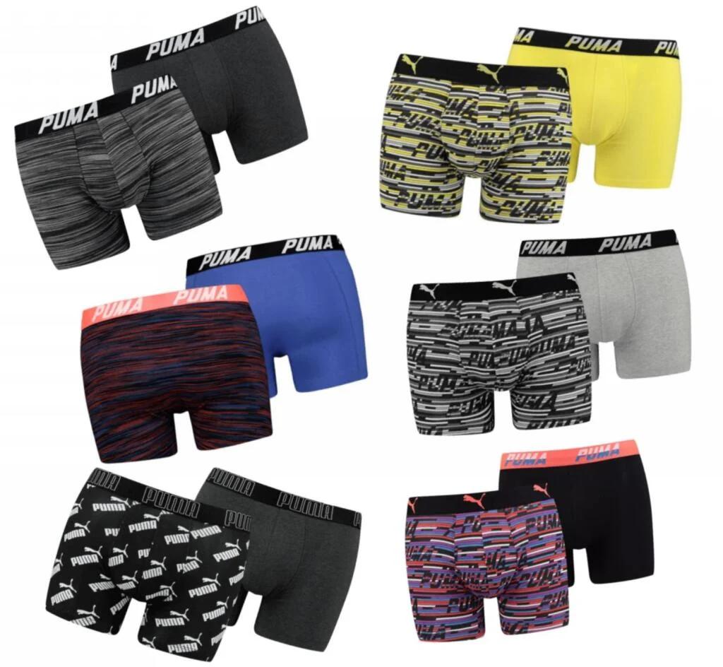 10 Puma boxershorts voor €41,95 - dus €4,20 per stuk - keuze uit 6 verschillende 2-packs