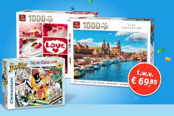 [Loterij] 3x gratis puzzels voor 1x meespelen € 14