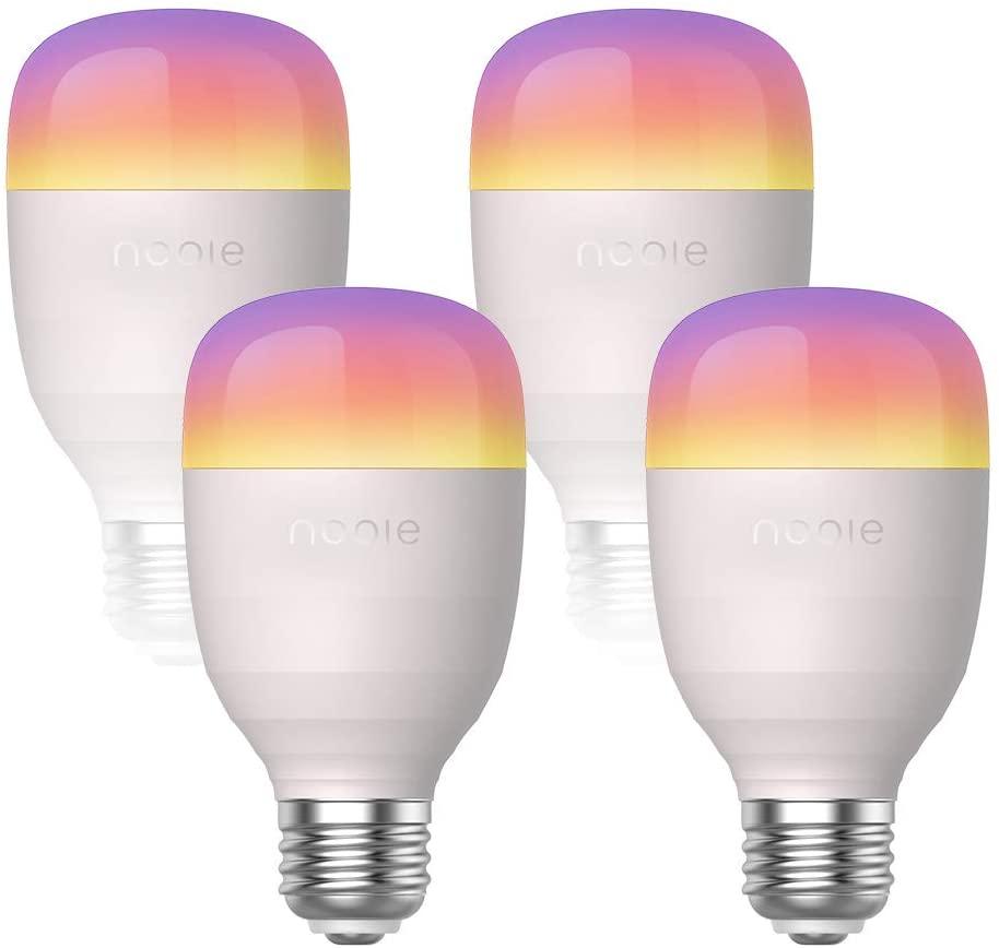 Nooie Aurora Multicolor Smart Lamp set van 4 @Amazon.de