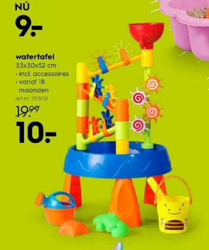 Vanaf maandag: Eddy Toys watertafel voor €10 bij de Blokker