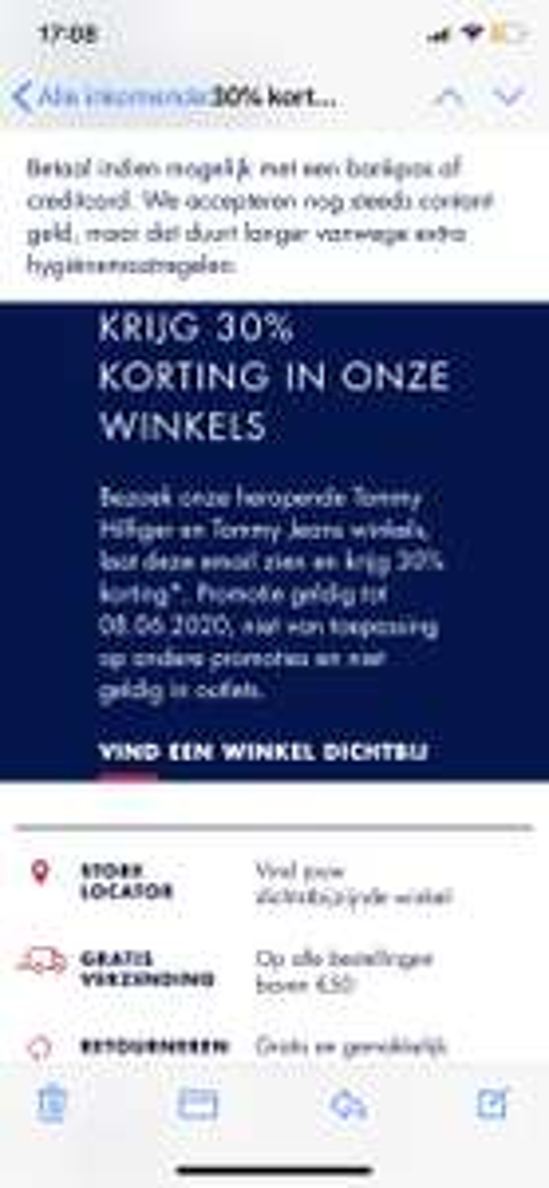 30% Korting Tommy Hilfiger in Winkel
