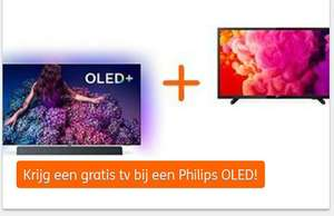 "Gratis Philips 32"" LED-TV (32PHS4503/12) bij aankoop Philips Oled tv @ing rentepunten winkel"