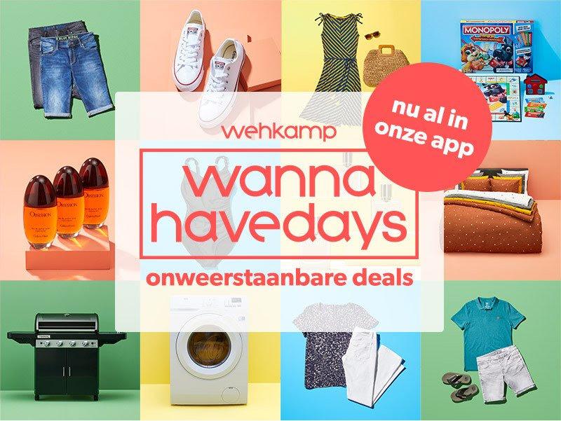 Wannahave Days nu al actief in de app @ Wehkamp