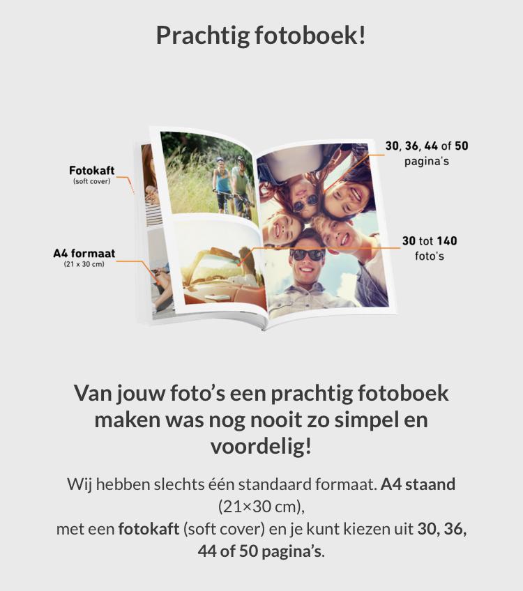 Fotoboek voor €8 ipv €15 incl verzending