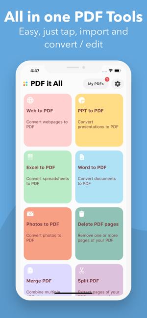 [iOS] tijdelijk gratis PDF it All Document Converter (app heeft geen in app aankopen)