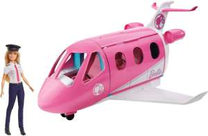 Barbie GJB33 Dreamhouse Adventures Droomvliegtuig - Pop en Speelset