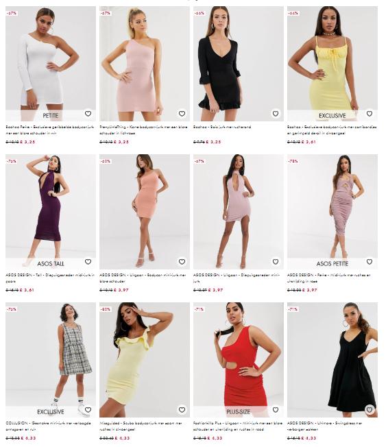 ook op sale: 24% (extra) korting op bijna alle jurken bij ASOS - alleen vandaag