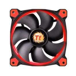 Thermaltake Riing 12 High Static Pressure LED Radiator Fans (set van 3) Rood, 120mm