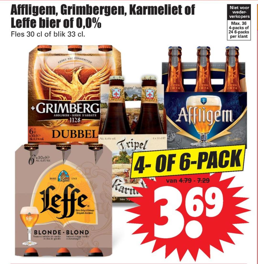 Affligem, Grimbergen, Karmeliet of Leffe bier of 0,0%