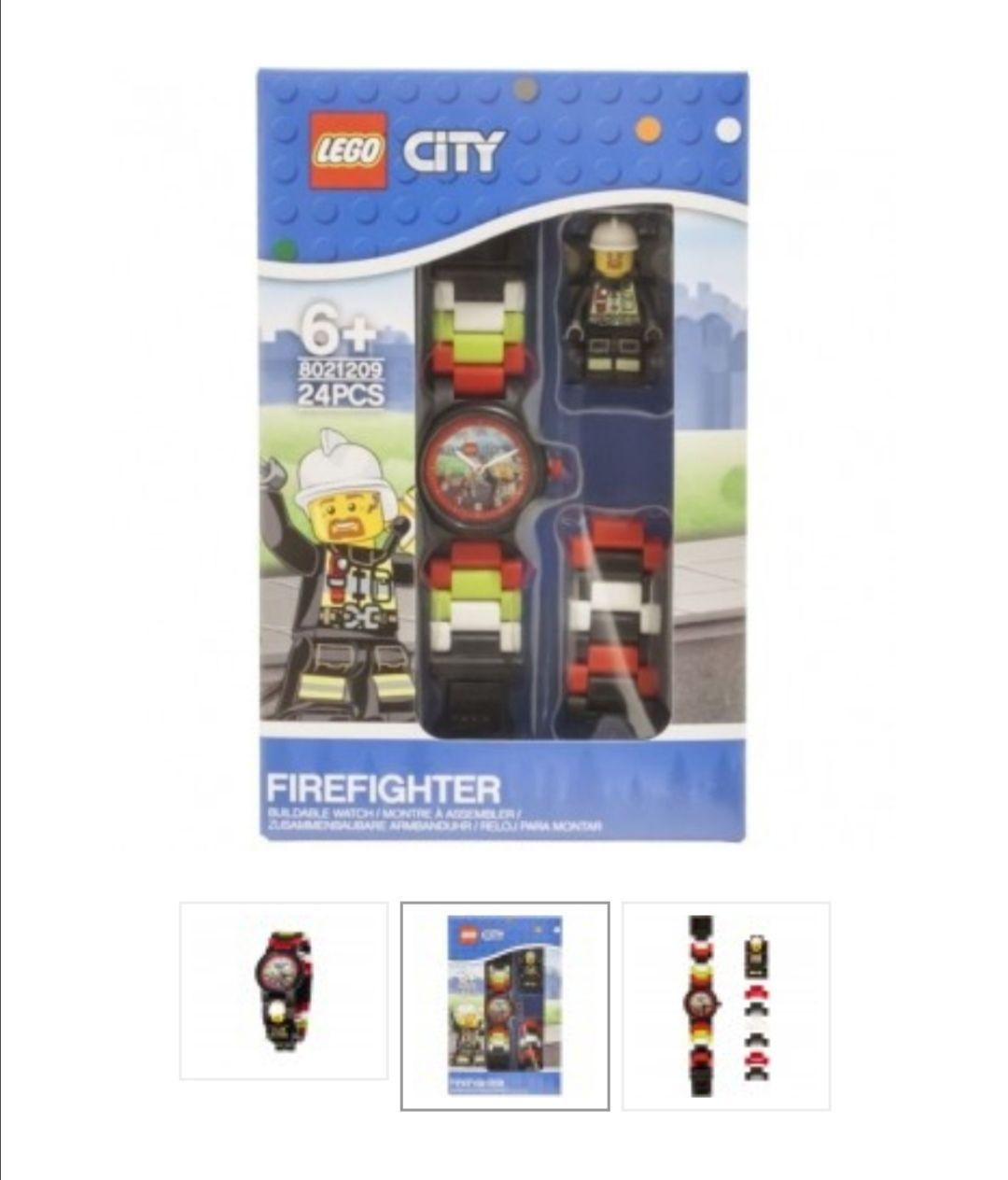 Lego City brandweer horloge