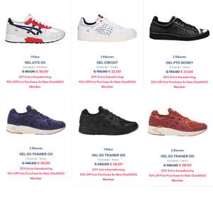Sneakers 20% EXTRA + 10% - al va €14,40 @ Asics Outlet