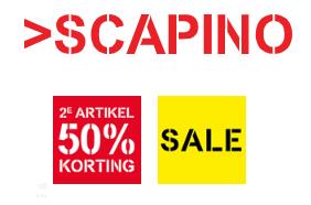2e halve prijs (ook op veel sale) + €5 extra korting v/a €50 @ Scapino