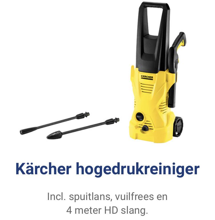 Kärcher K2 Home met 4m slang, spuitlans en vuilfrees