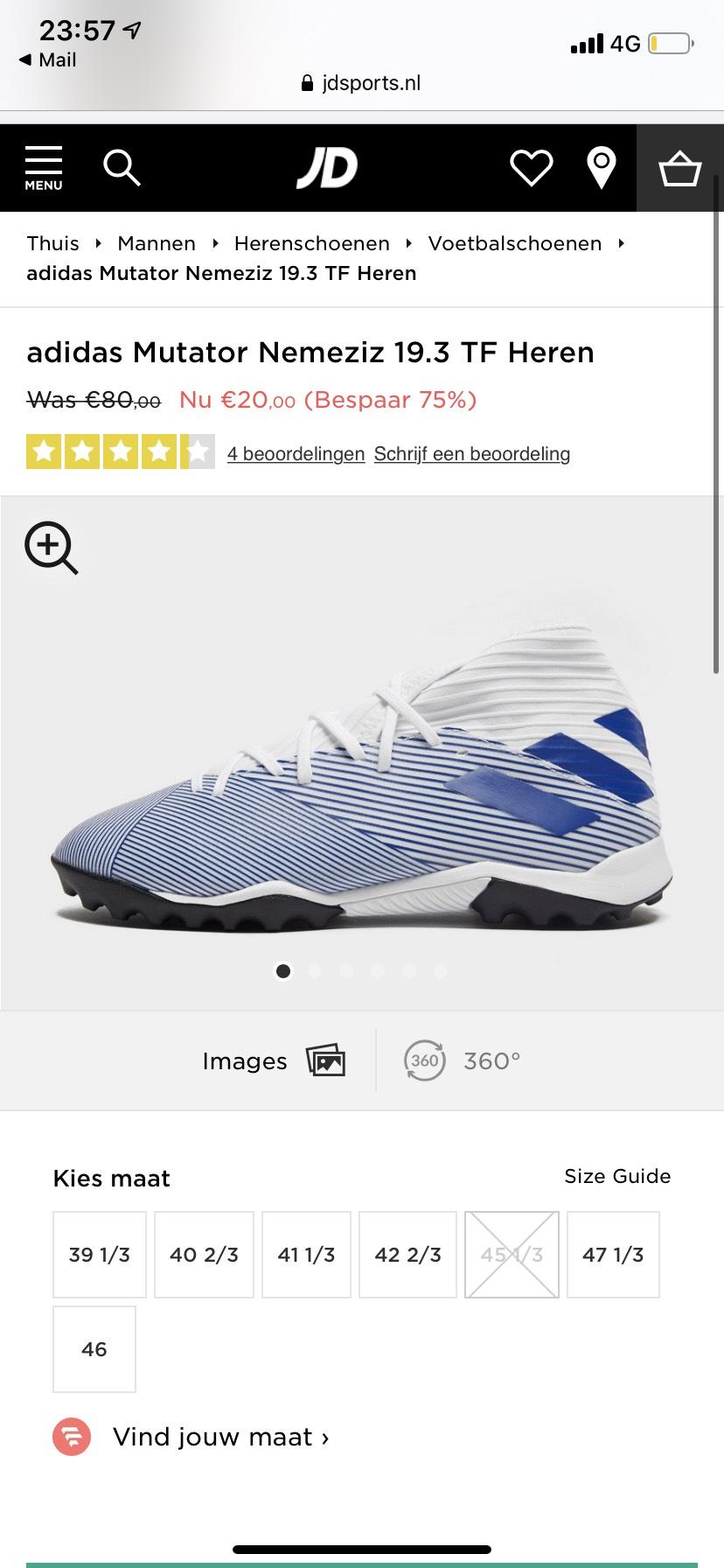 Adidas Mutator Nemeziz 19.3 TF Heren