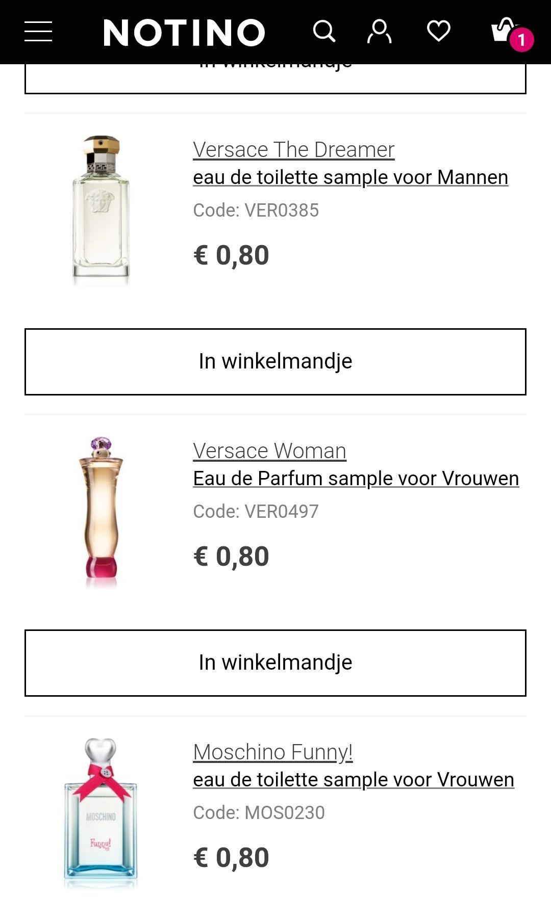 Parfum samples