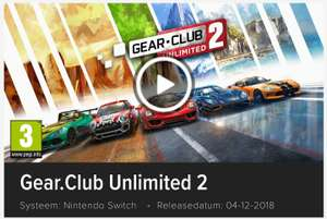 Gear club unlimited 2 exclusive Switch game in de Eshop