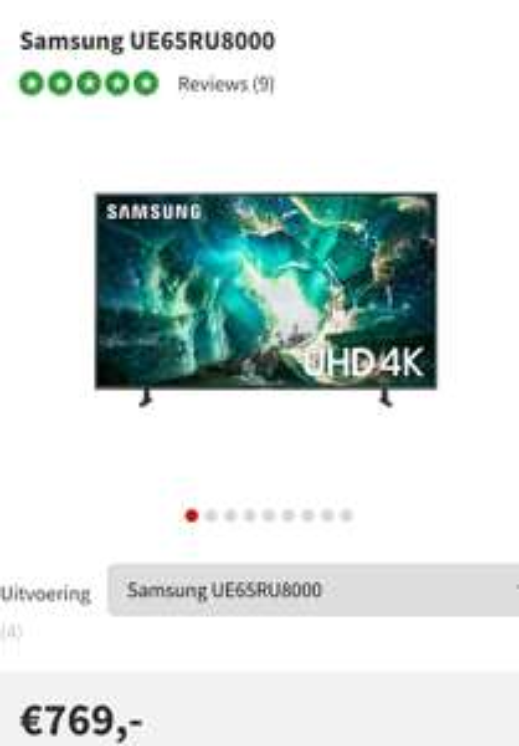 Samsung UE65RU8000 , 65inch met 100hz!!