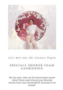 Rituals showerfoam nu €6,50 in de winkels