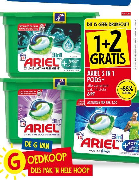 Ariel 3in1 pods 1+2 bij Jan Linders
