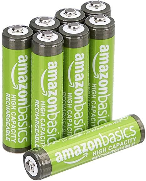 8 x AmazonBasics NiMH AAA-batterijen 850 mAh