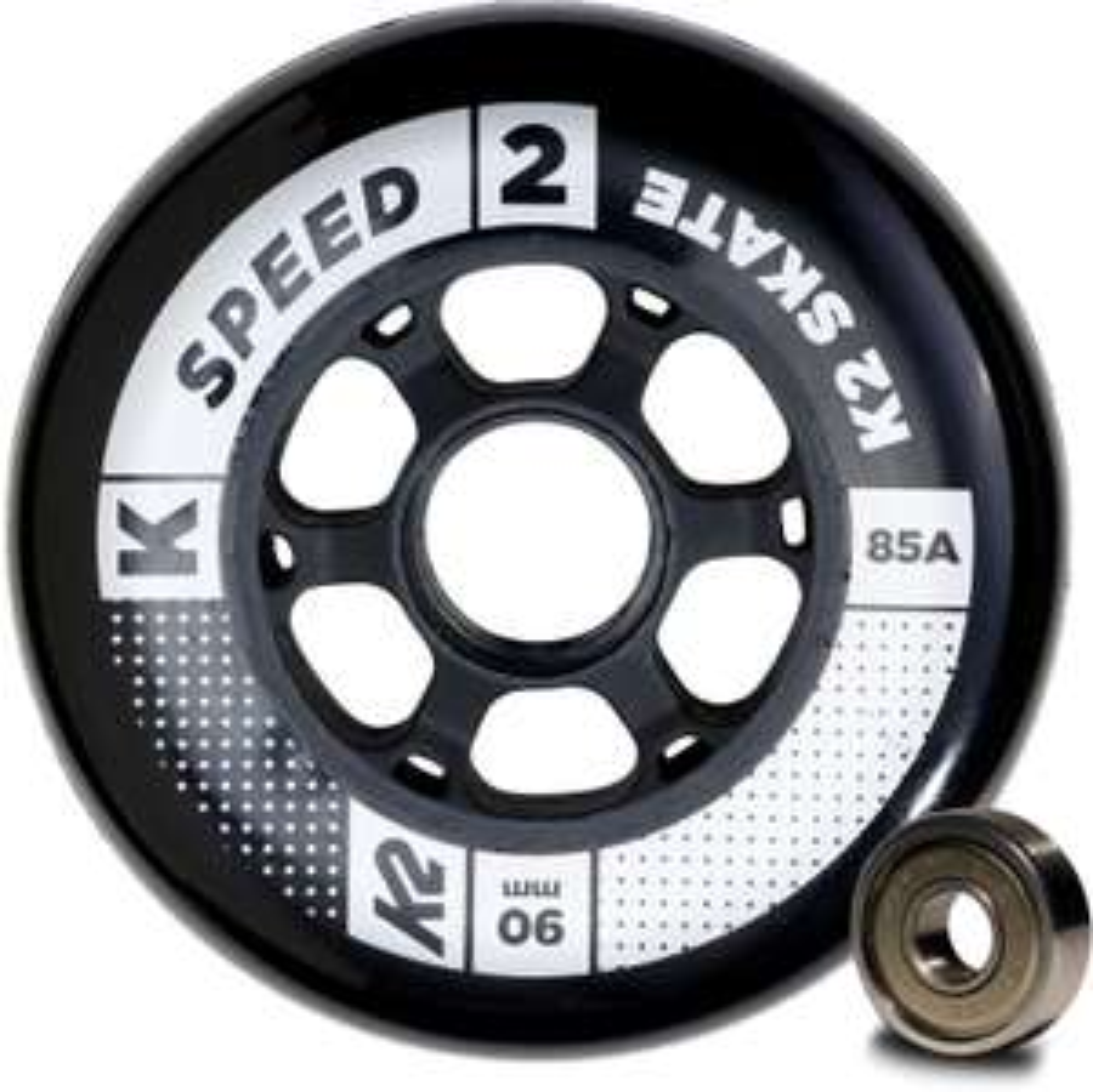 8x K2 skate wielen 90mm incl. ILQ9 lagers