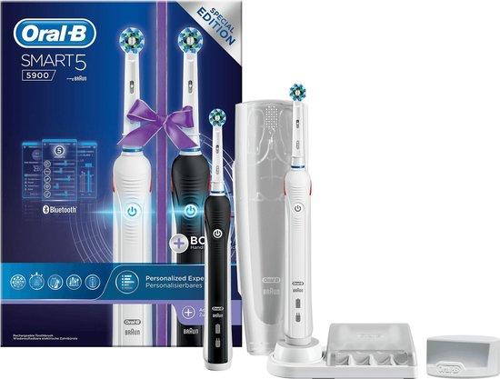 Bol.com outlet: Oral-B Smart 5 5900 Zwart En Wit - Duopack 2 stuks