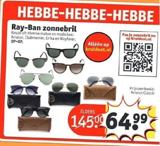@Kruidvat, Ray-Ban zonnebril €64.99