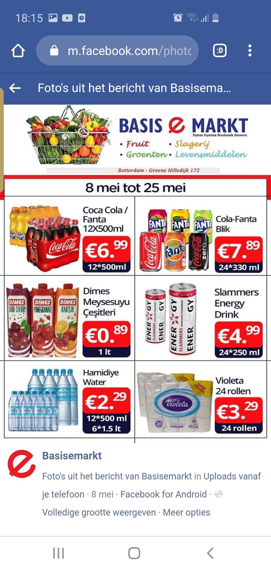 Fanta cola alle smaken 7.89 24*330 ml @Basis E Markt Rotterdam