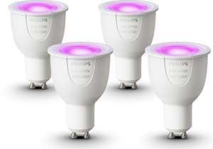 4x Philips Hue GU10 White and Color Ambiance