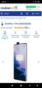 One Plus 7 Pro 8gb/265gb met abonnement.