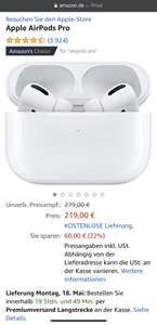 Apple Airpods Pro (Amazon.de)