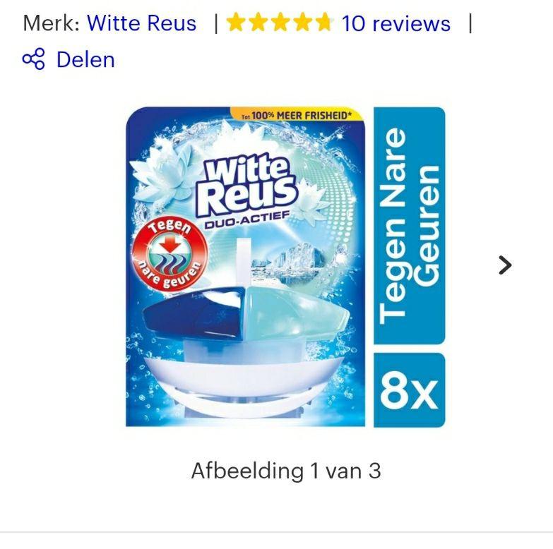 Witte reus toiletblok 8x