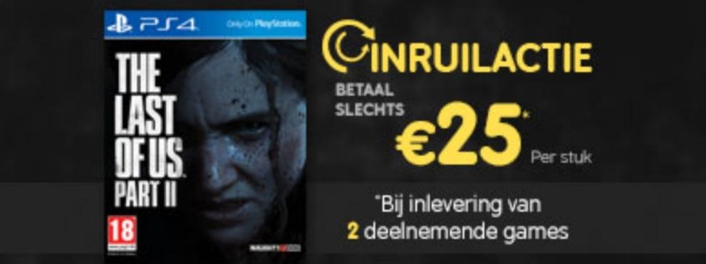 The Last of Us: Part II - Day One Edition voor €25 bij inleveren van twee games