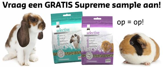 Gratis Supreme Science Selective sample voor konijnen of voor cavia's