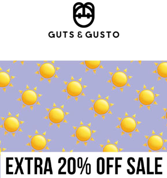 Met code 20% EXTRA op sale @ Guts & Gusto