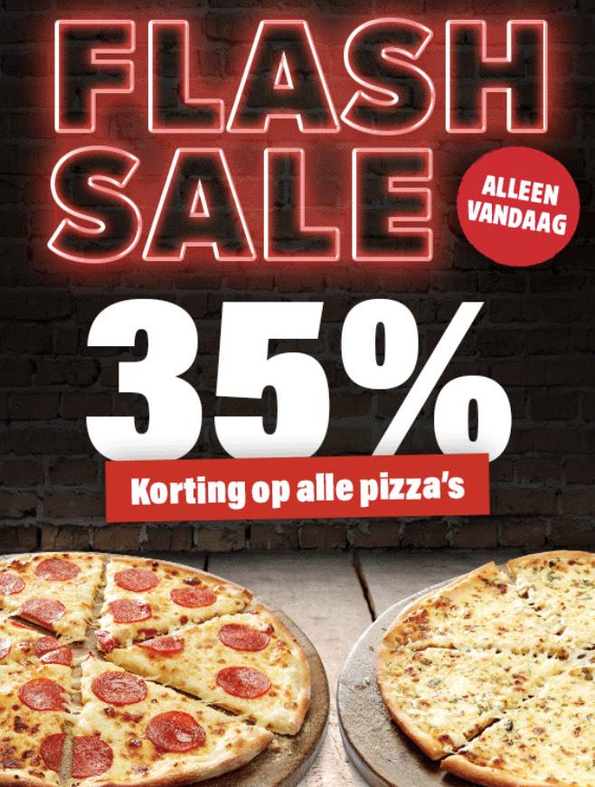 Dominos 35% korting op bijna alle pizza (vandaag geldig)