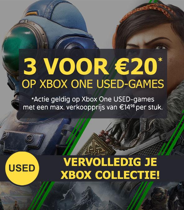 3 Used Xbox One games voor €20 en 3 Used Xbox 360 games voor €10 @ Game Mania (winkels)