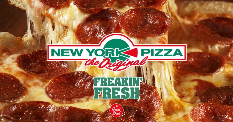 25 cm NY Style pizza voor €4,99 bij afhalen @ New York Pizza