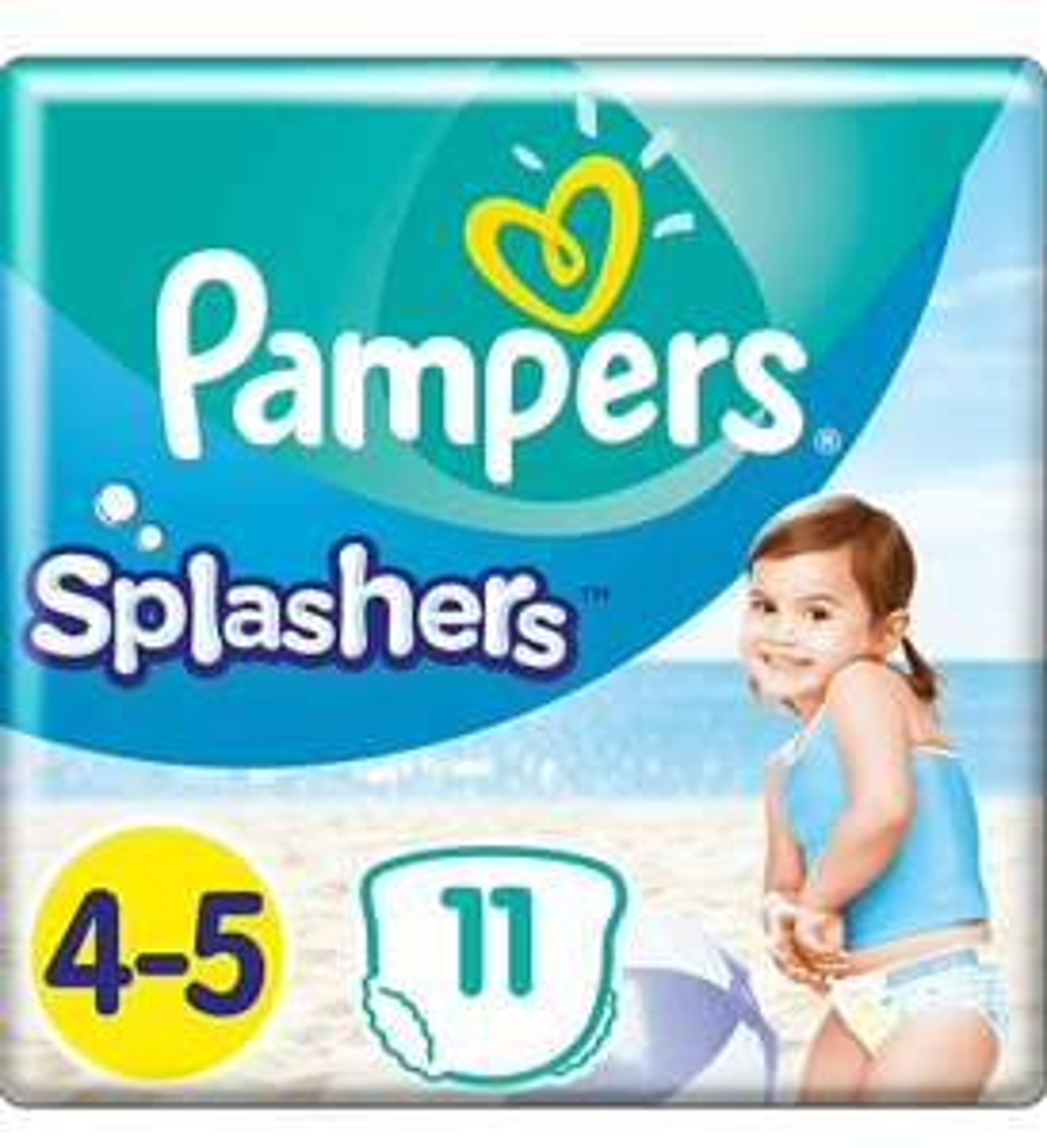 Pampers Splashers Gr. 4-5 (4 x 11 Stuks) @amazon.nl