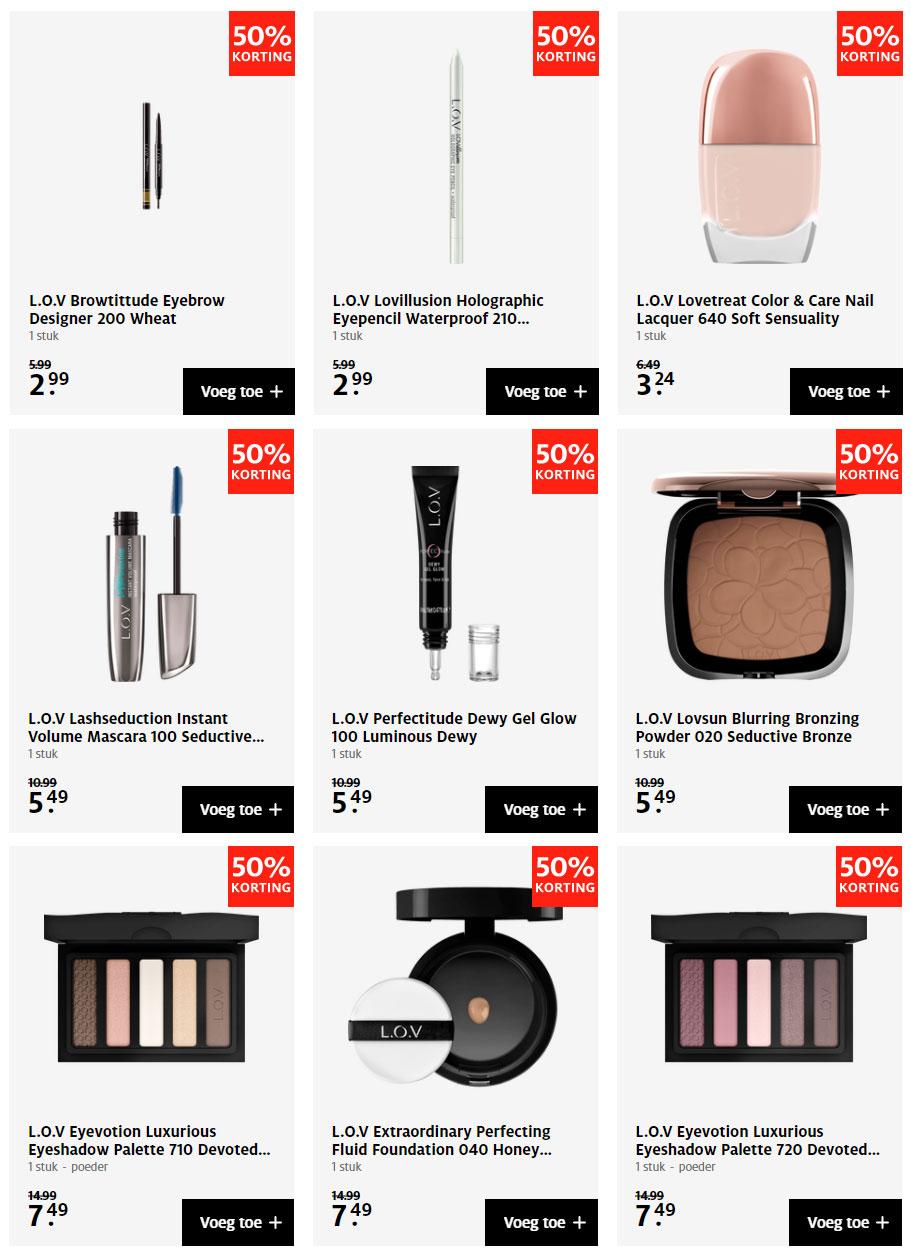L.O.V. make-up -50% @ ETOS