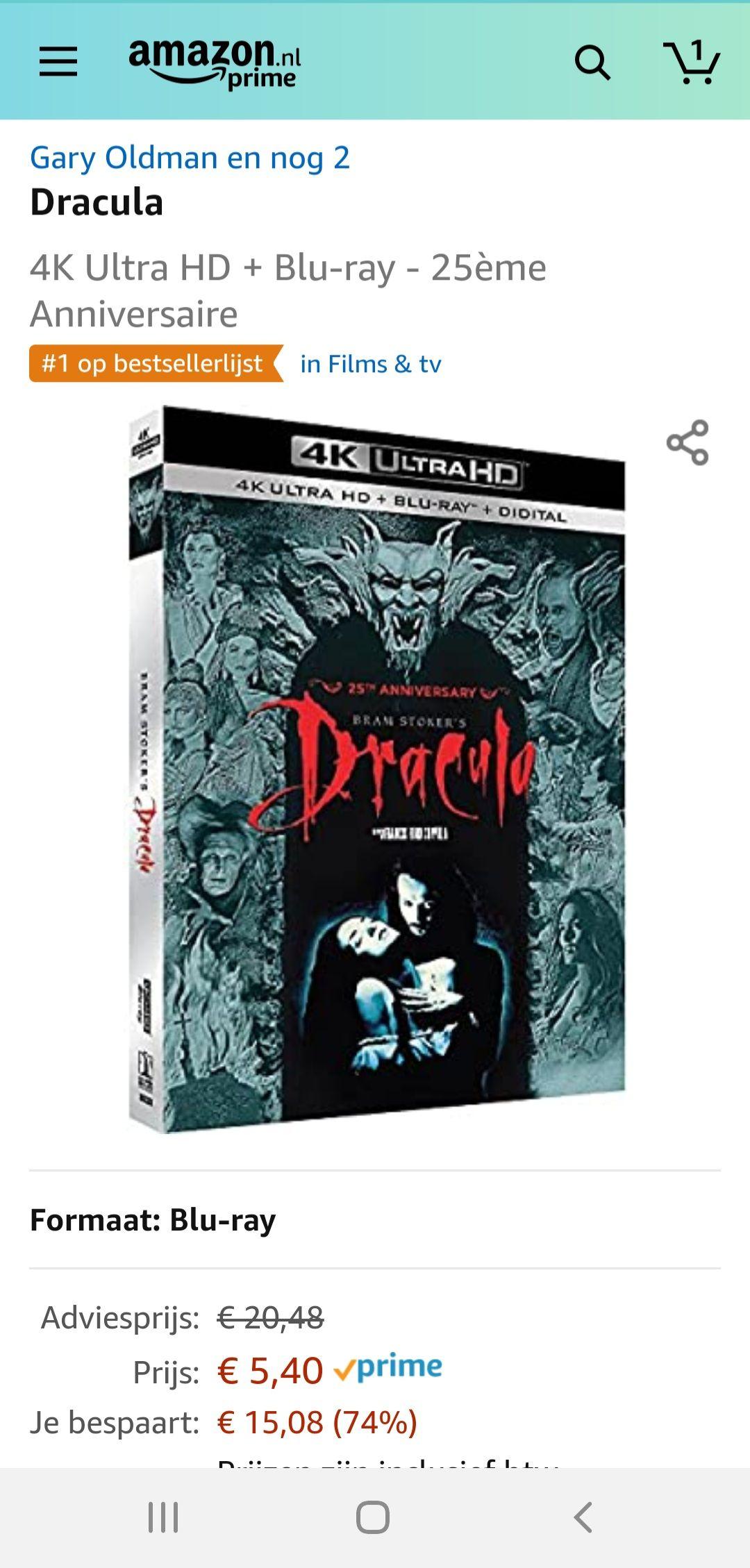 Dracula (1992) - 4k Blu-Ray