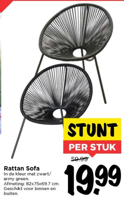 Rattan stoelen voor €19,99 p/s @ VOMAR winkels