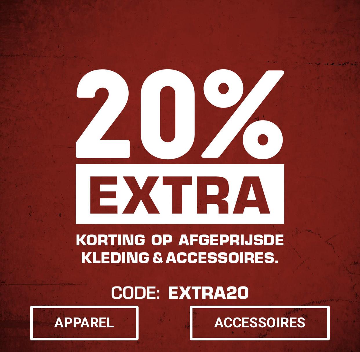20% extra korting @snipes.nl
