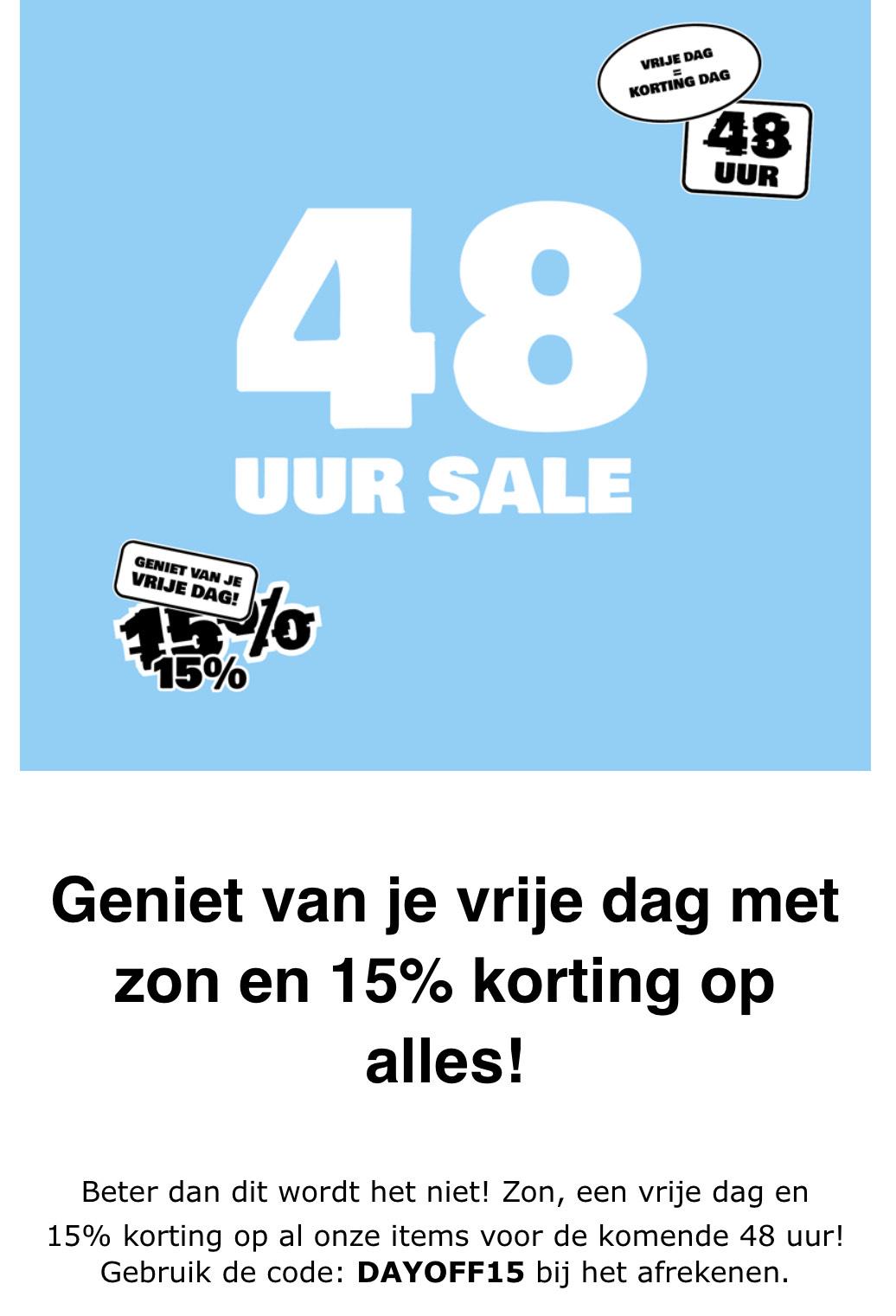 48 uur lang korting op ALLES bij Sneakerbaas.nl