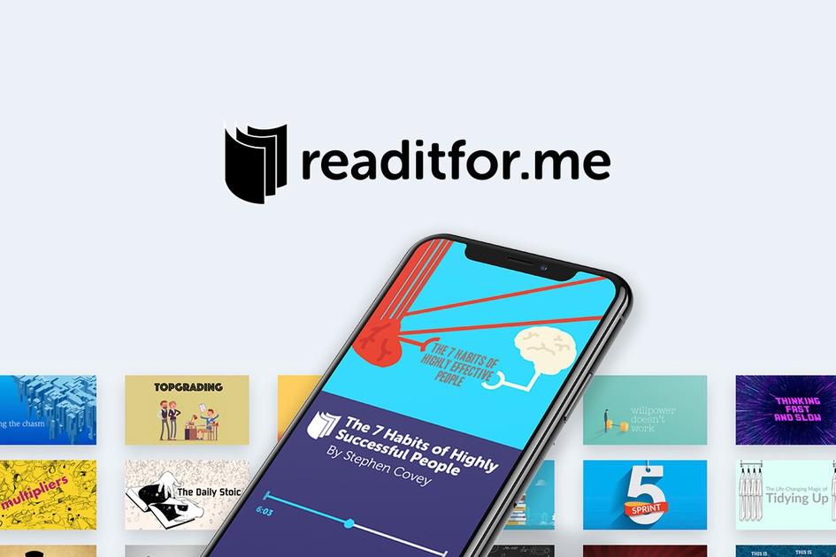 1 jaar gratis Readitfor.me (12 minuten boeksamenvattingen)
