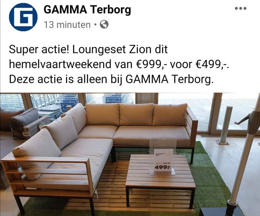 Loungeset Zion @Gamma Terborg